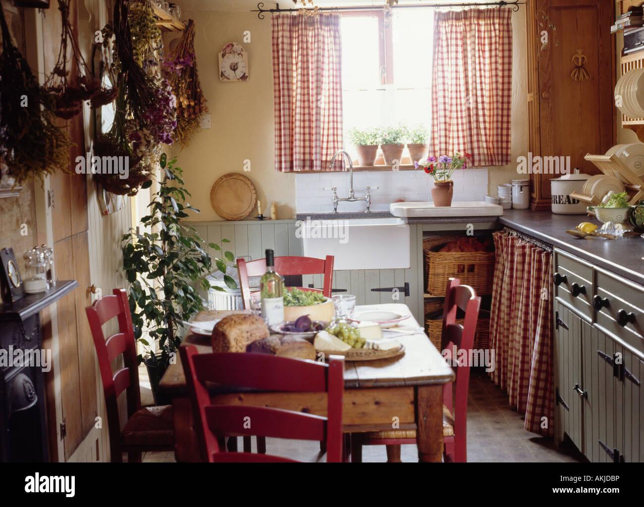 Lujoso Mesa De Cocina De La Cabaña Friso - Ideas de Decoración de ...