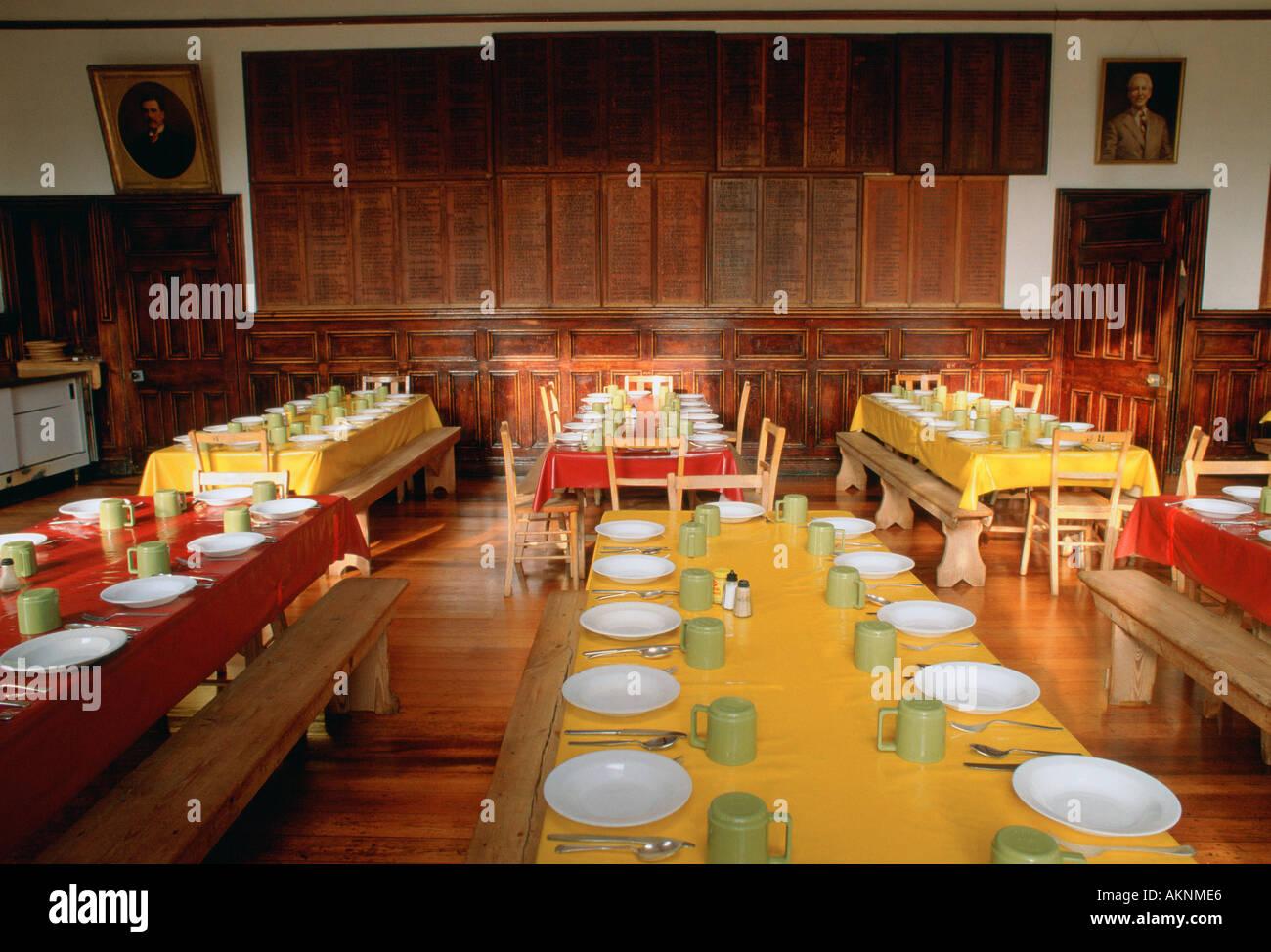 Comedor en Ludgrove internado para niños en Wokingham Berkshire Reino Unido Foto de stock
