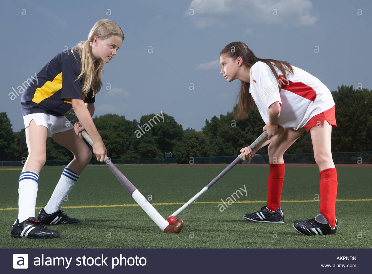 Jugadores de hockey rival Imagen De Stock