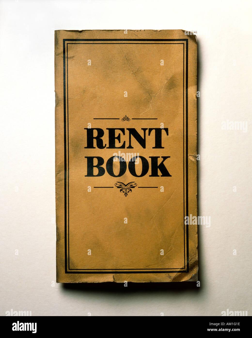 Antiguo libro de alquiler Imagen De Stock