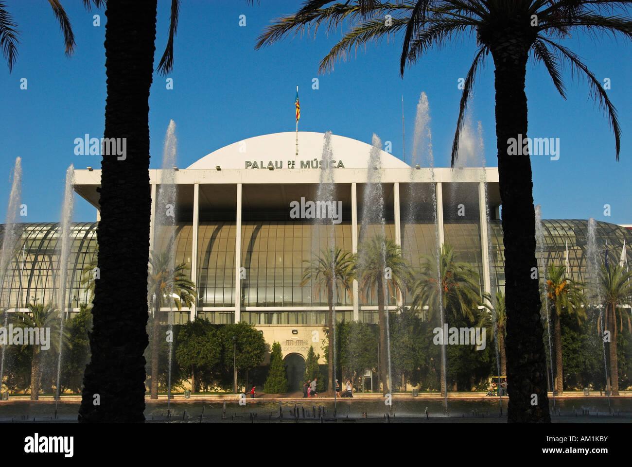 Sala de conciertos el Palau de la música, de la ciudad de Valencia, España, Europa Imagen De Stock