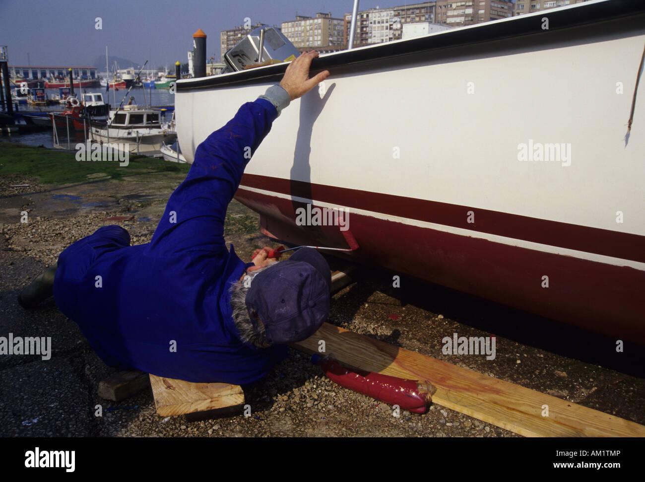 El puerto de la ciudad de Santander Cantabria España Imagen De Stock