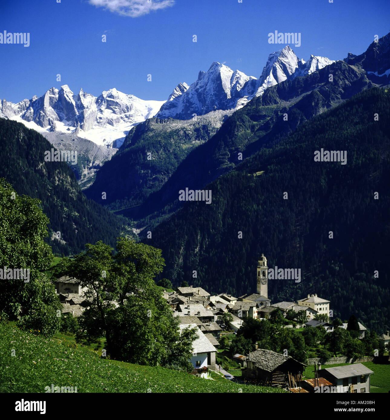 Geografa viajes Suiza Grisones Soglio Bergell descripciones