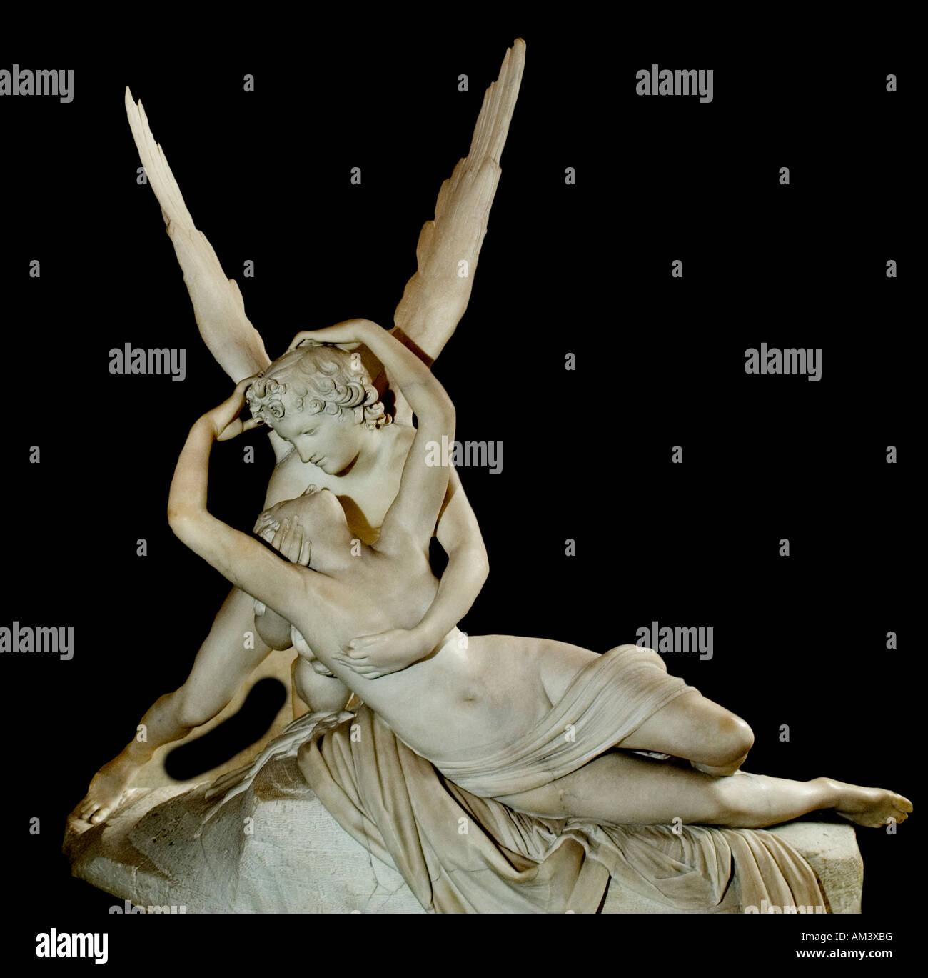 Antonio Canova, Amor y Psique de mármol 1786-93, altura 155 Italia italiano Imagen De Stock