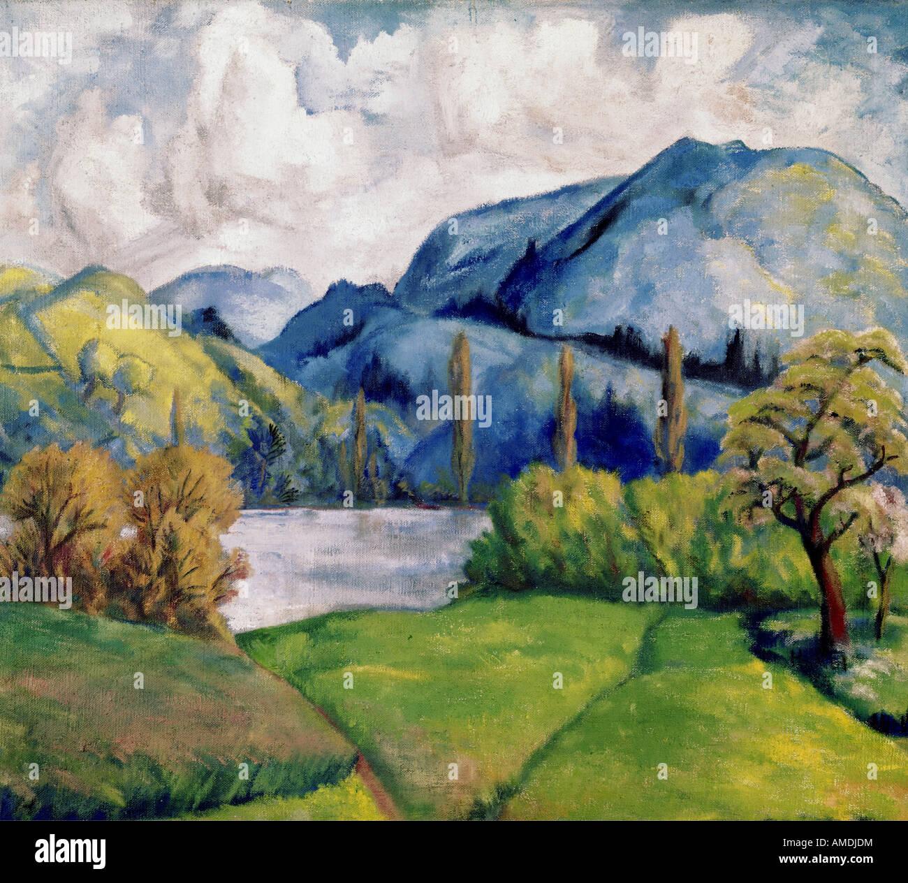 Bellas artes, Cezanne, Paul (1839 - 1906), la pintura, la Kunsthaus Zürich, Francés, impressionsm, naturaleza, árboles, Foto de stock
