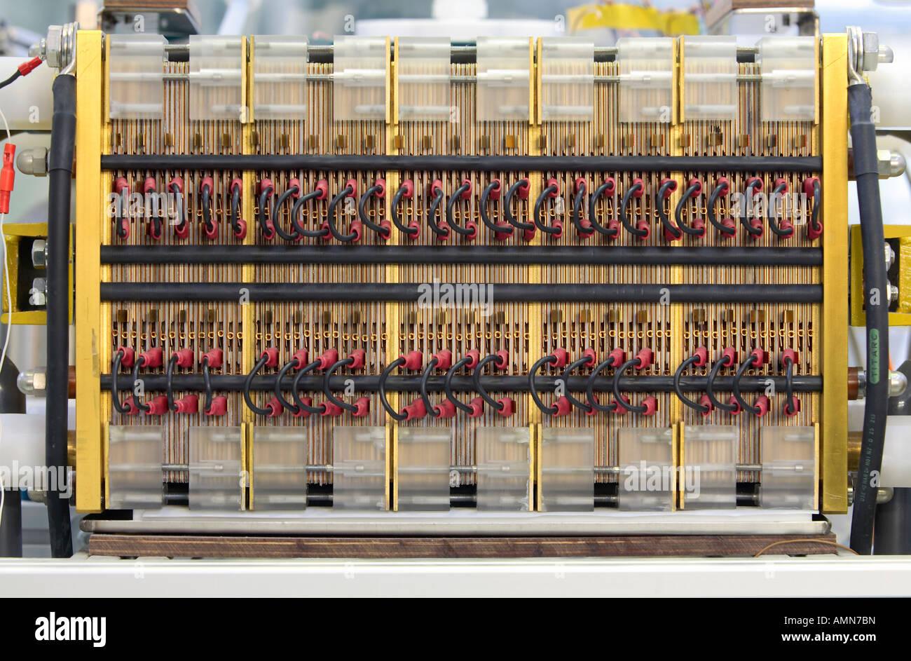 Una pila de células de combustible, Juelich, Alemania Imagen De Stock