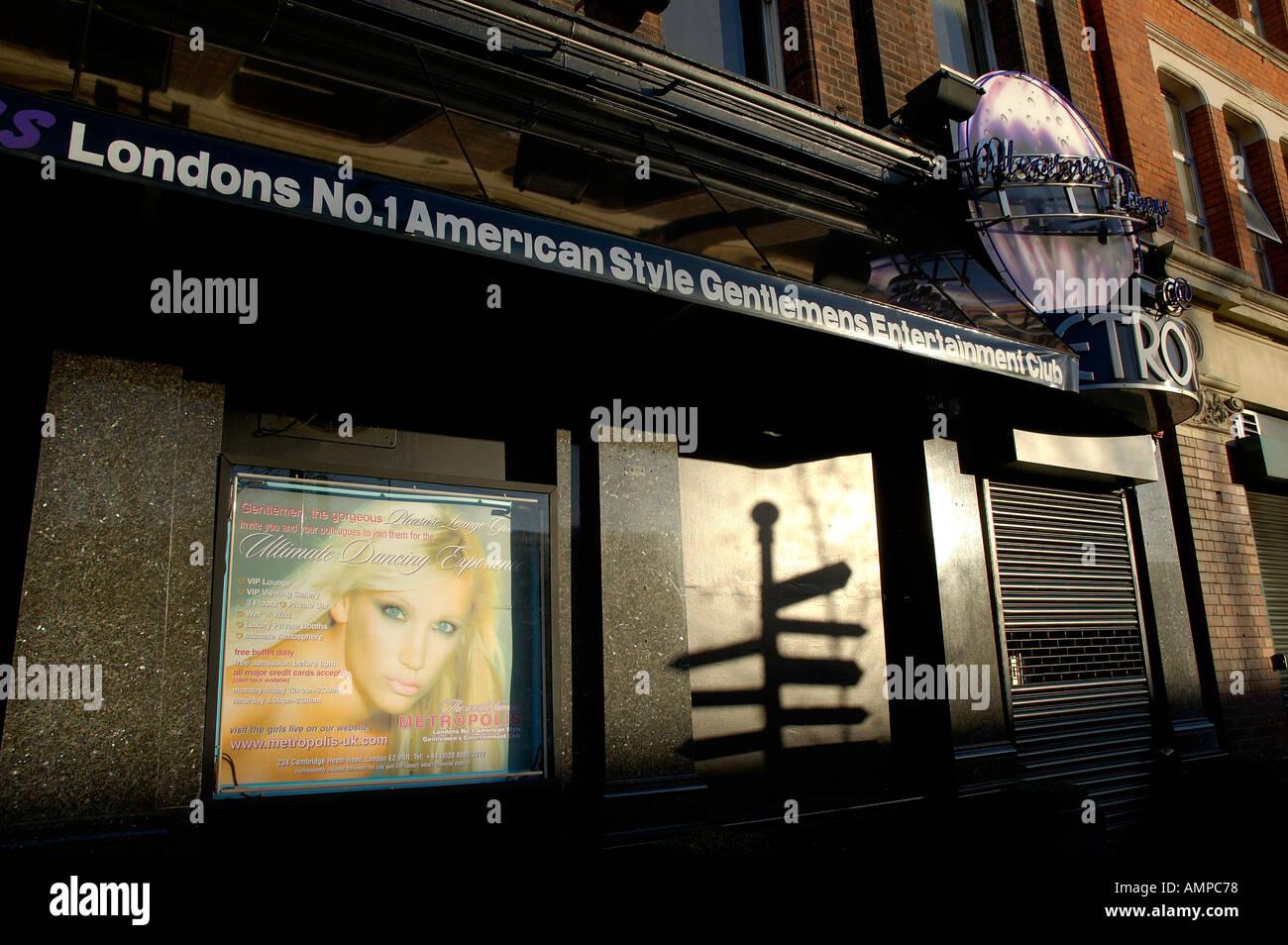 Metropolis striptease en East London Imagen De Stock