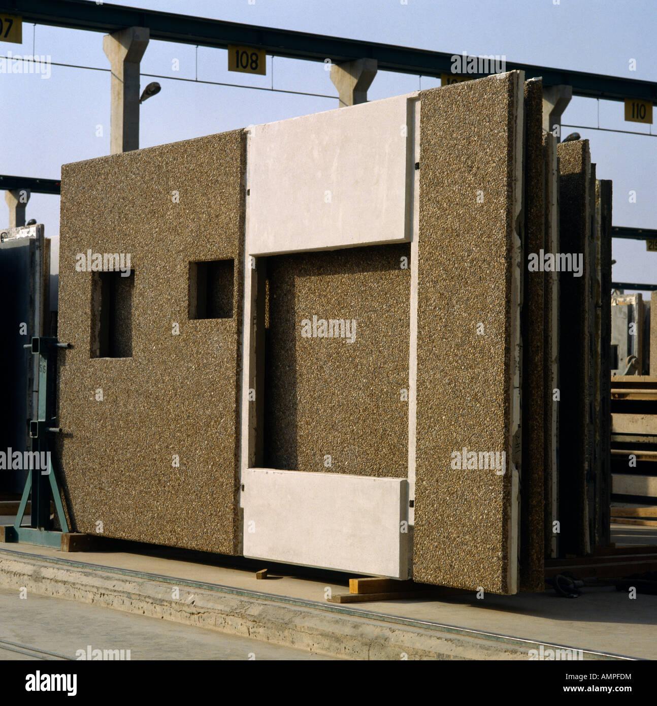 Arabia Saudita sitio de construcción paneles prefabricados Imagen De Stock