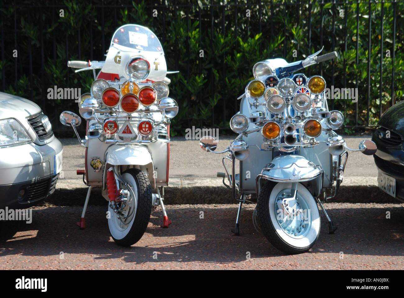 Modernas motos Imagen De Stock