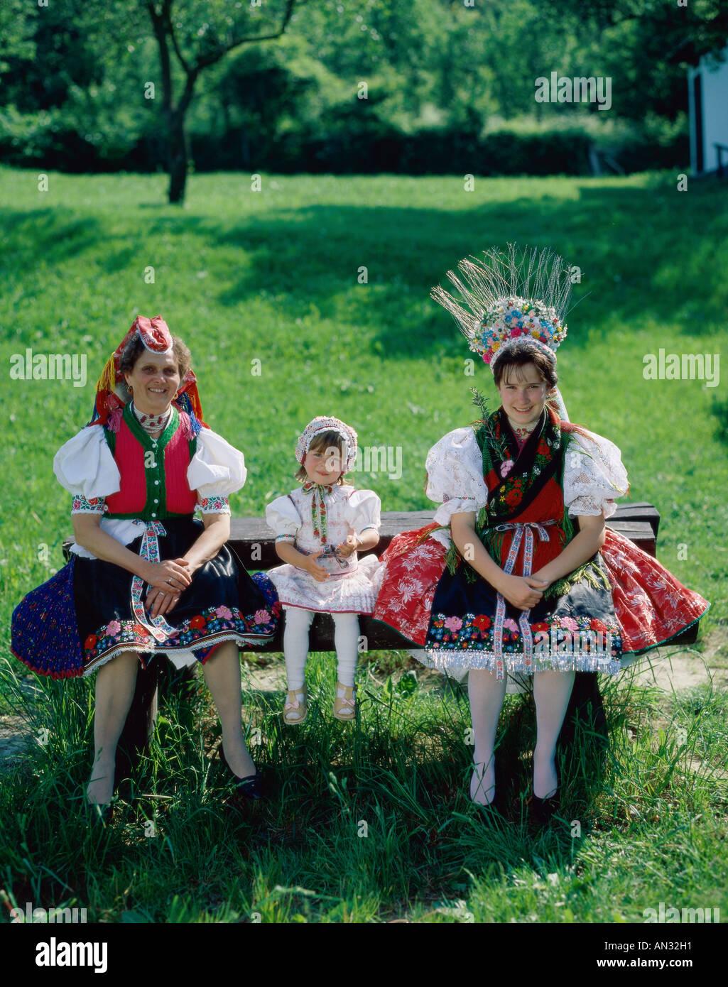 Traje de folklore tradicional, Hungría Imagen De Stock