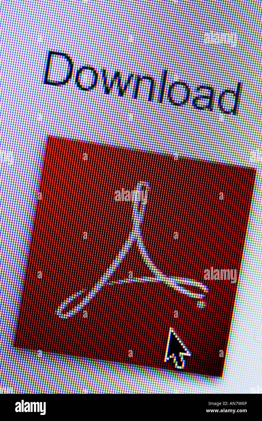 Descargar la aplicación Adobe Acrobat Reader desde el sitio web Imagen De Stock