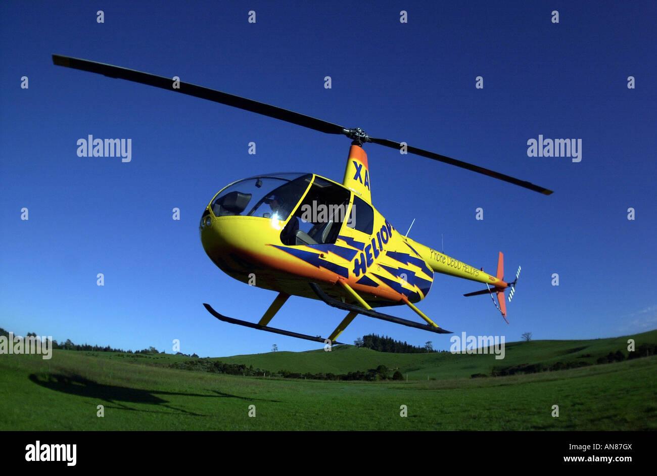 Flays de helicópteros en el aire Foto de stock