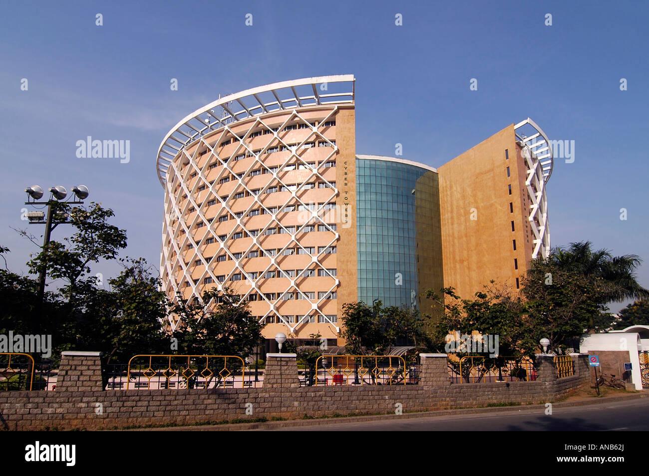"""El edificio de Wipro en Hyderabad """"Cyberabad', la India. WIipro es una empresa de tecnología de software. Imagen De Stock"""
