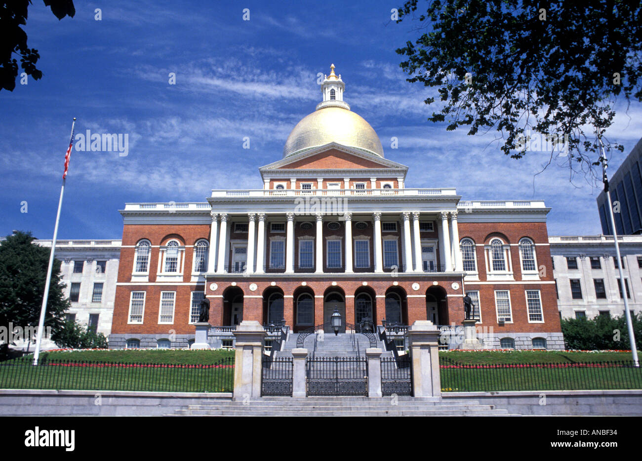 El edificio del Capitolio Boston Massachusetts Imagen De Stock