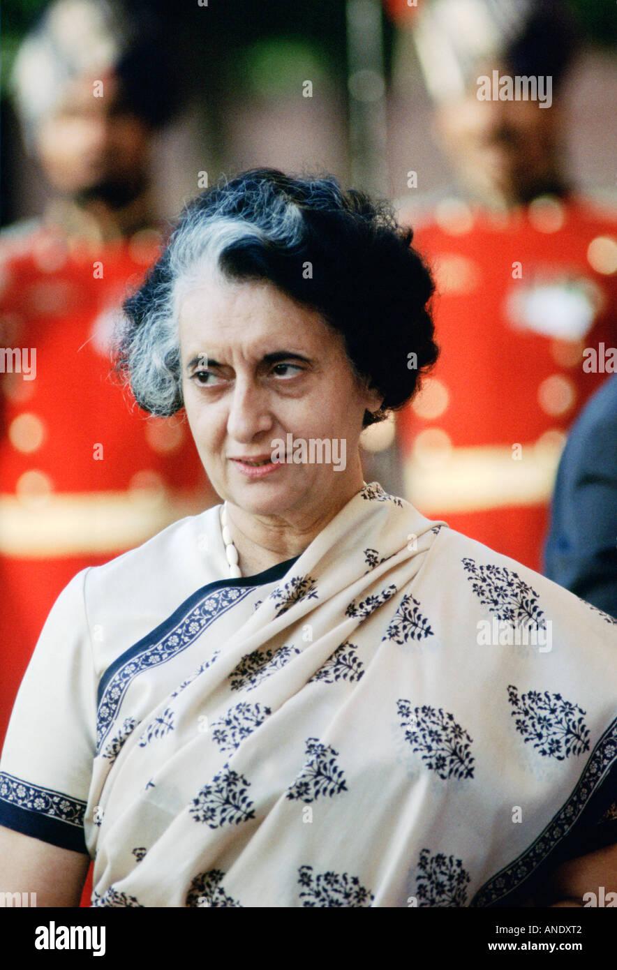 El Primer Ministro de la India, Indira Ghandi India Imagen De Stock