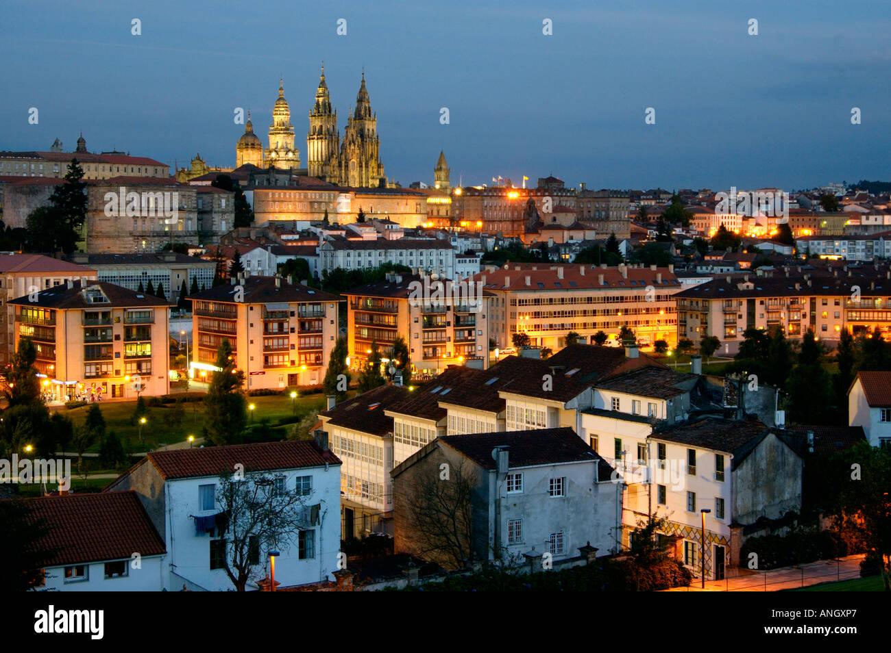 Catedral de Santiago de Compostela, Santiago de Compostela, Galicia, España Foto de stock