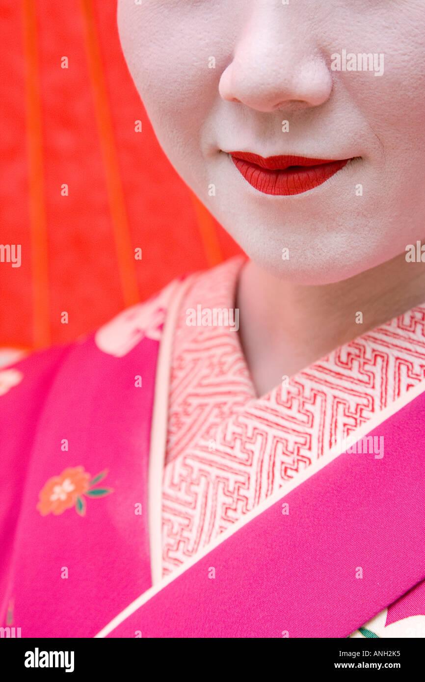 Geisha, Maruyama Koen, Kyoto, Japón Imagen De Stock