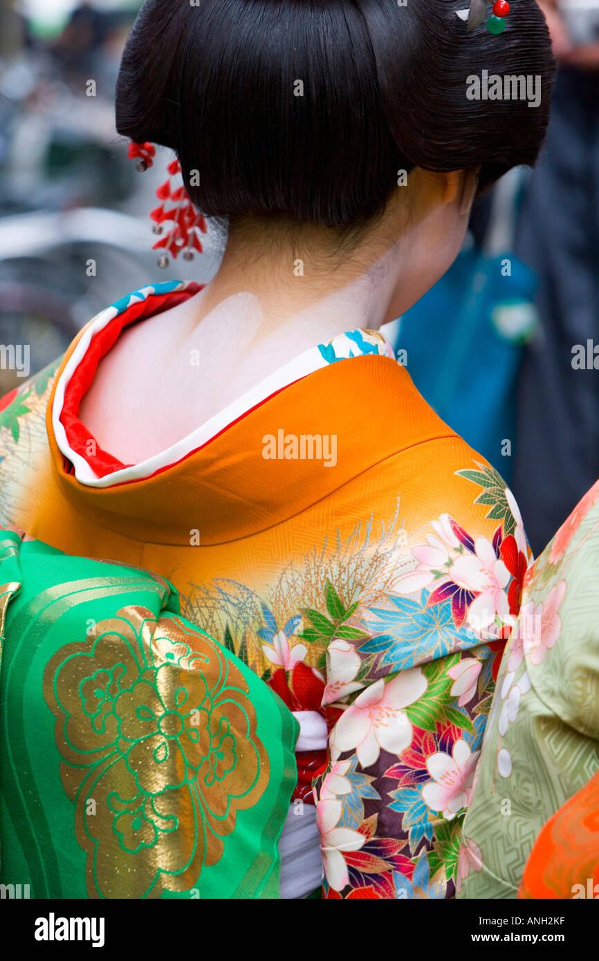 Maiko (aprendiz de geisha), distrito Gion, Kioto, Japón Imagen De Stock