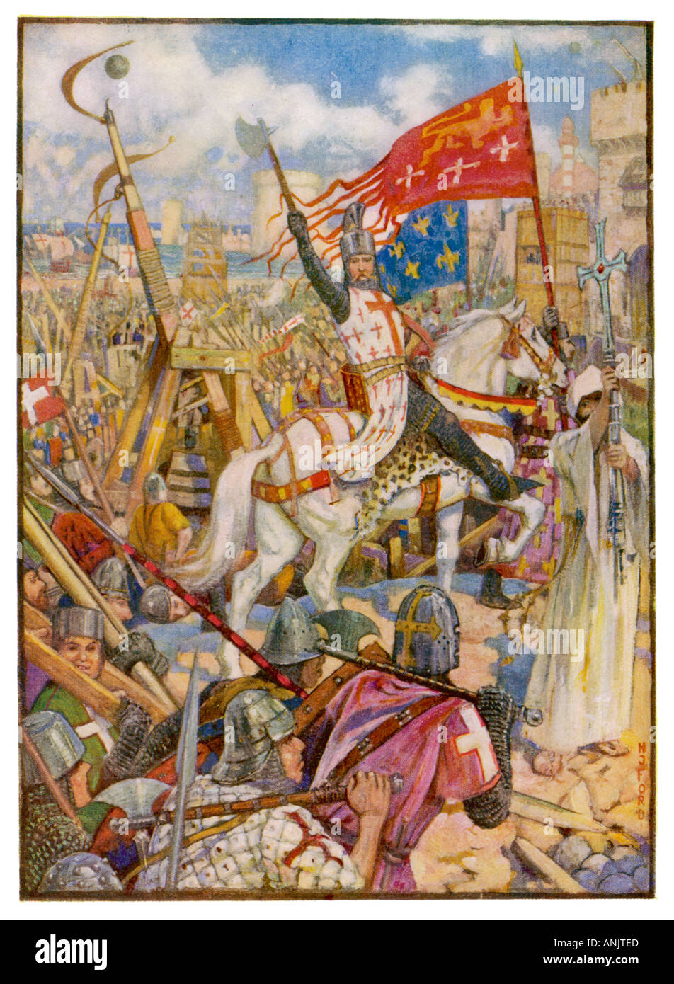 Cruzadas Richard 1 Imagen De Stock