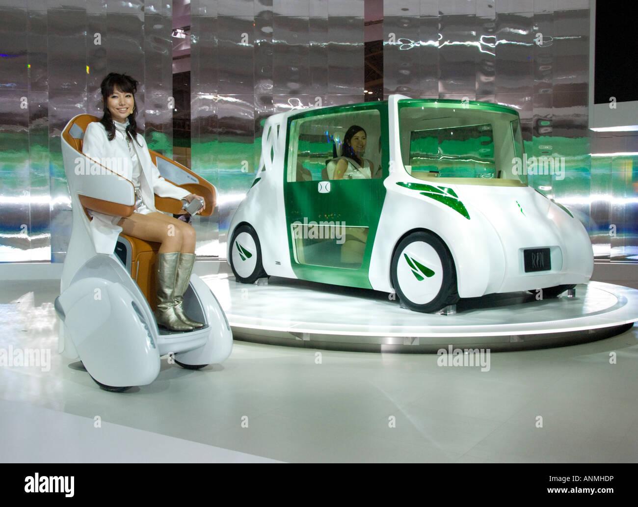 Toyota RiN y yo real concepto prototipos sobre show en el Tokyo Motor Show 2007 Imagen De Stock
