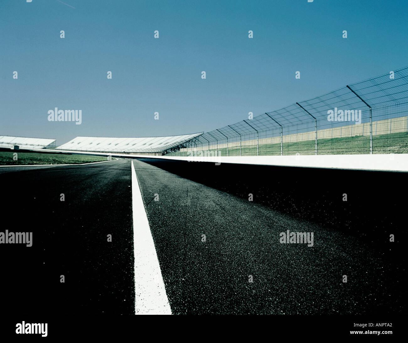 Una pista de carreras de alta velocidad Imagen De Stock