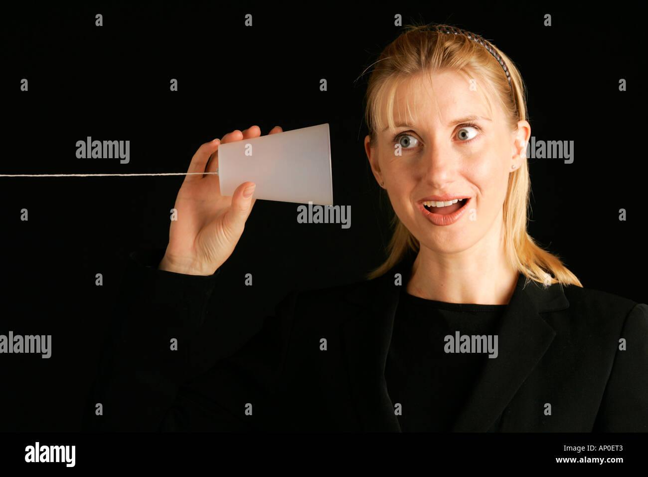 El concepto de comunicación Foto de stock