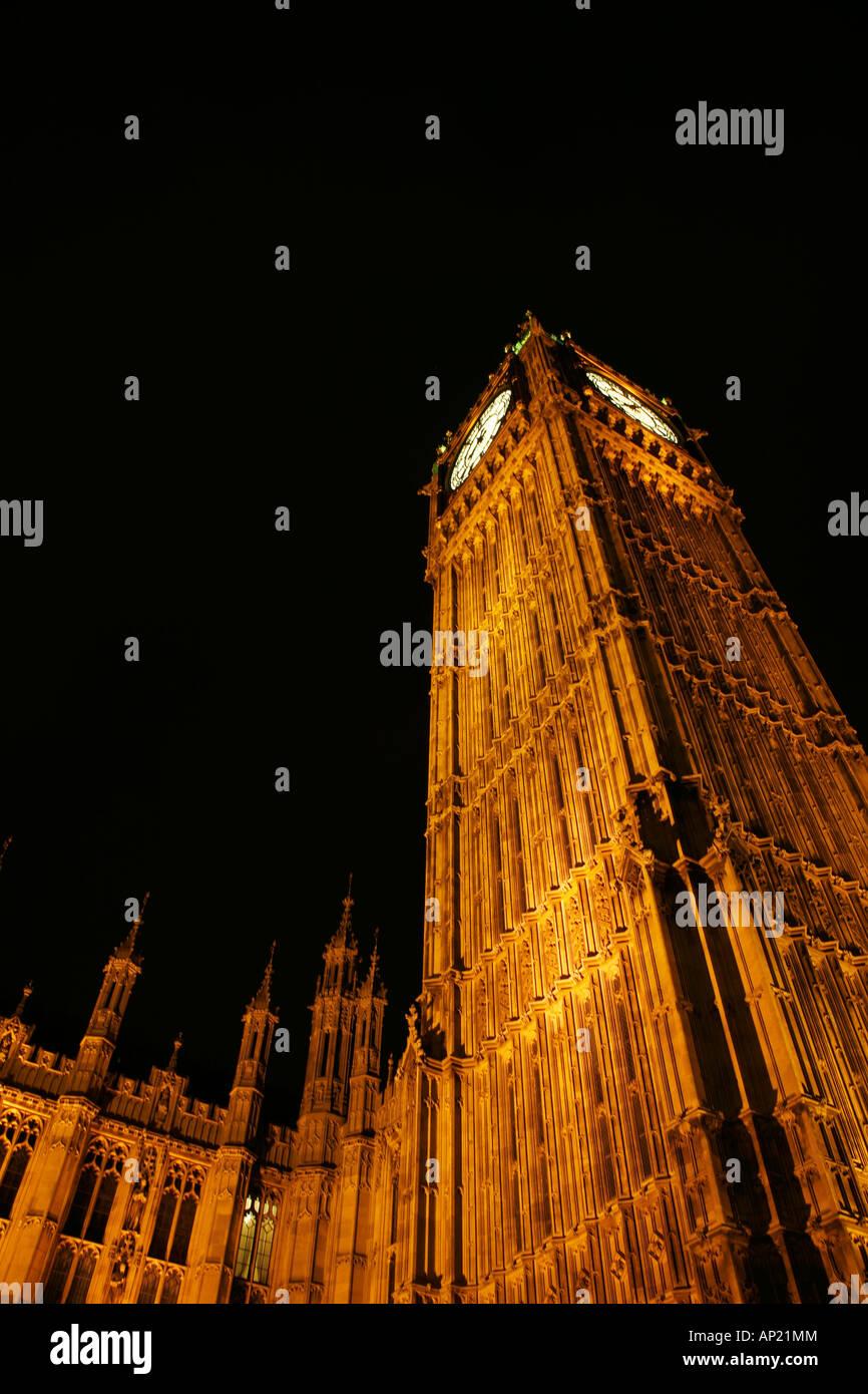 Big Ben de noche, Londres Foto de stock