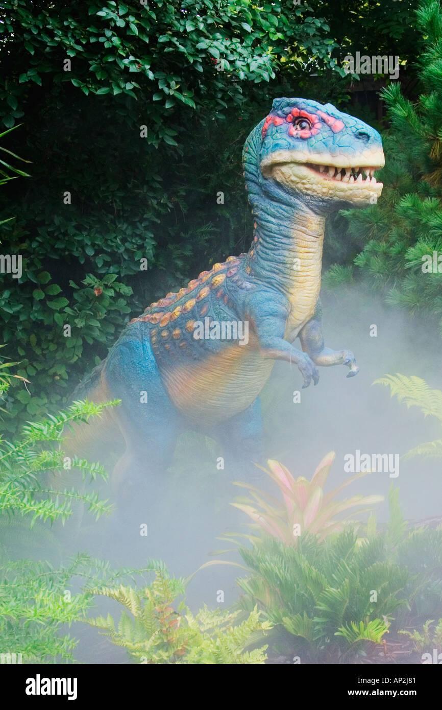 Tyrannosaurus desde finales del período Cretácico va a una longitud de 40 pies y ponderados hasta 6 toneladas podría Foto de stock