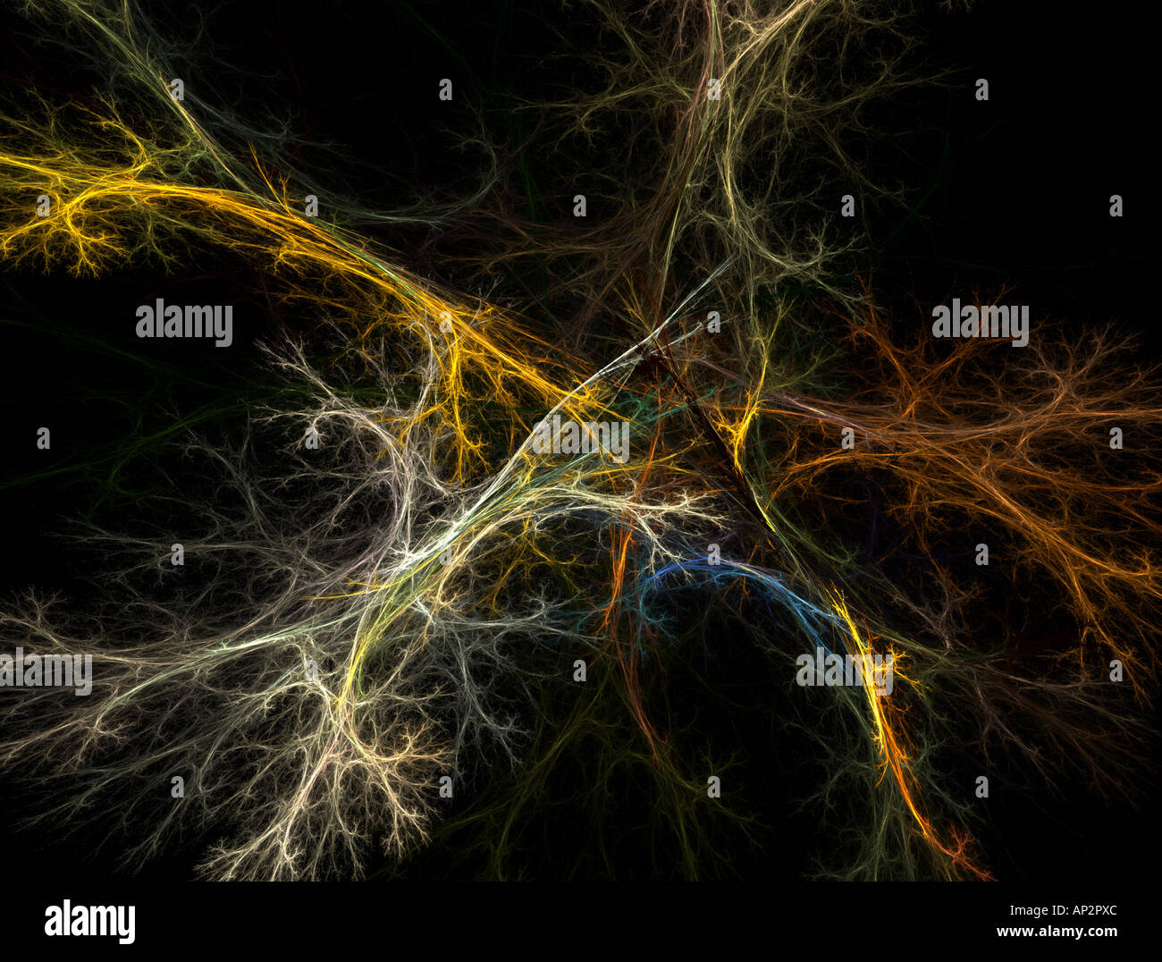 Resumen de la neurona Foto de stock