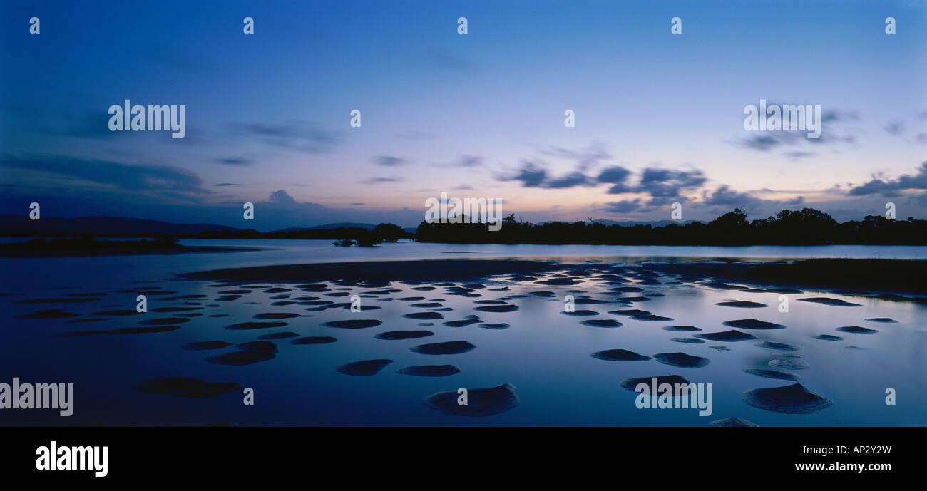 Marea baja, la Albufera, el Refugio de Fauna Silvestre de Cuare, Venezuela, Estados Unidos Imagen De Stock