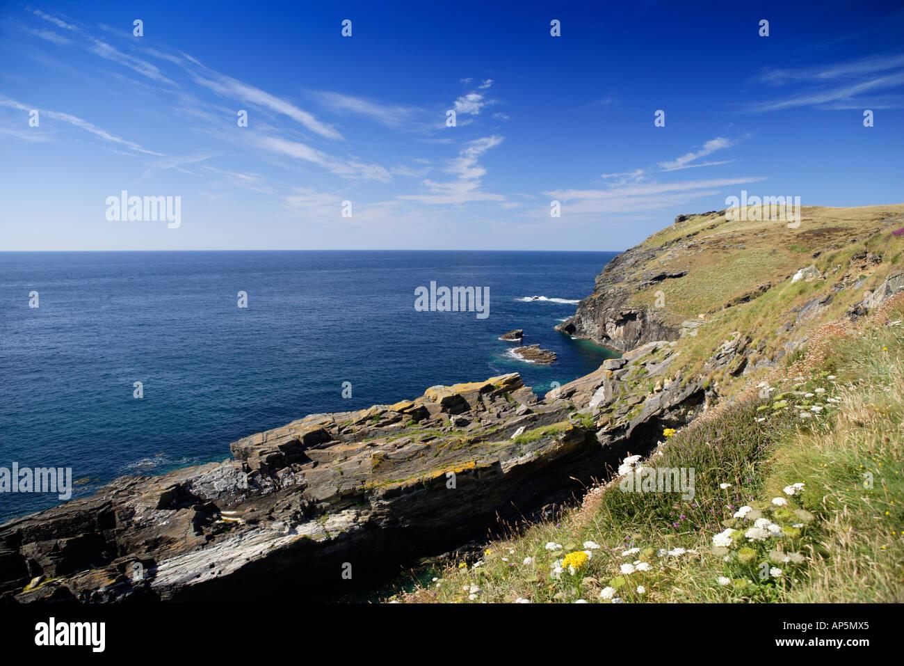 Tintagel Cabecero Cornwall UK Imagen De Stock