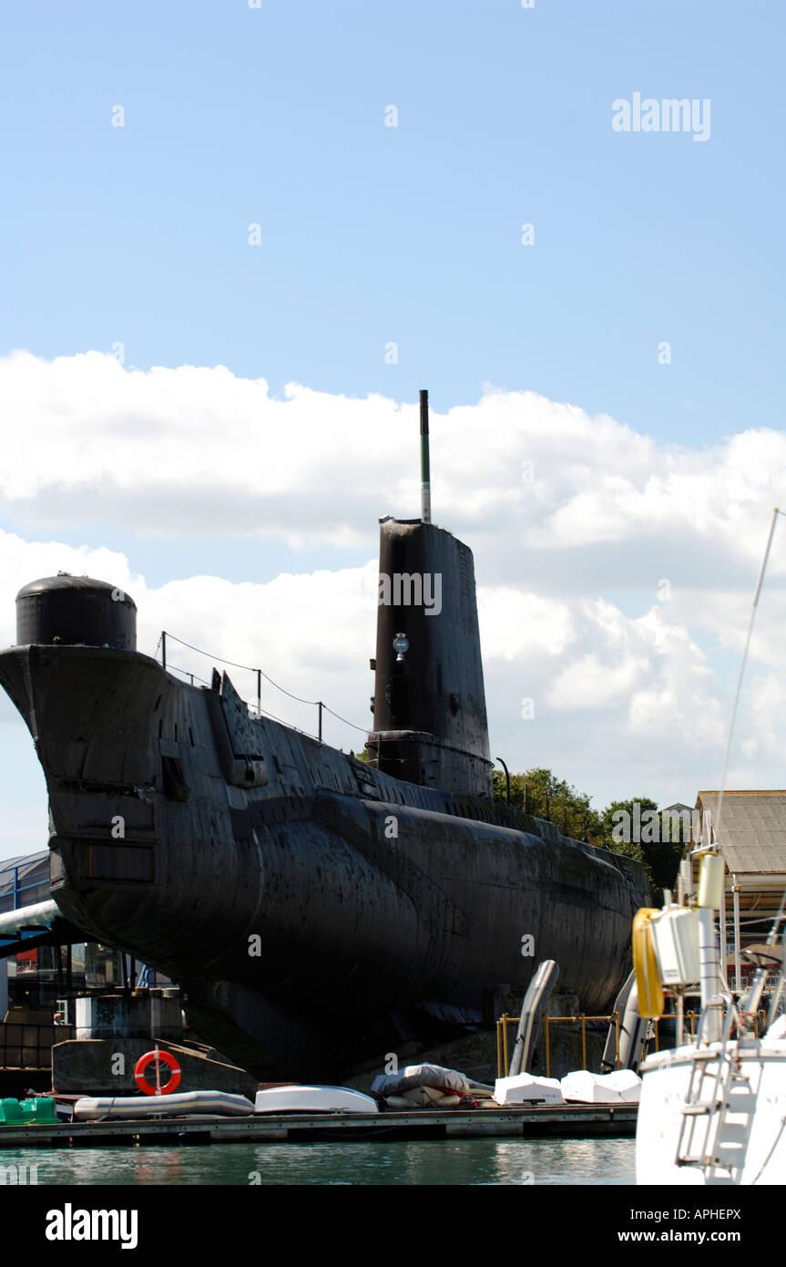 La segunda guerra mundial, la Royal Navy hms alianza museo naval submarina en haslar creek gosport Portsmouth Historic Imagen De Stock