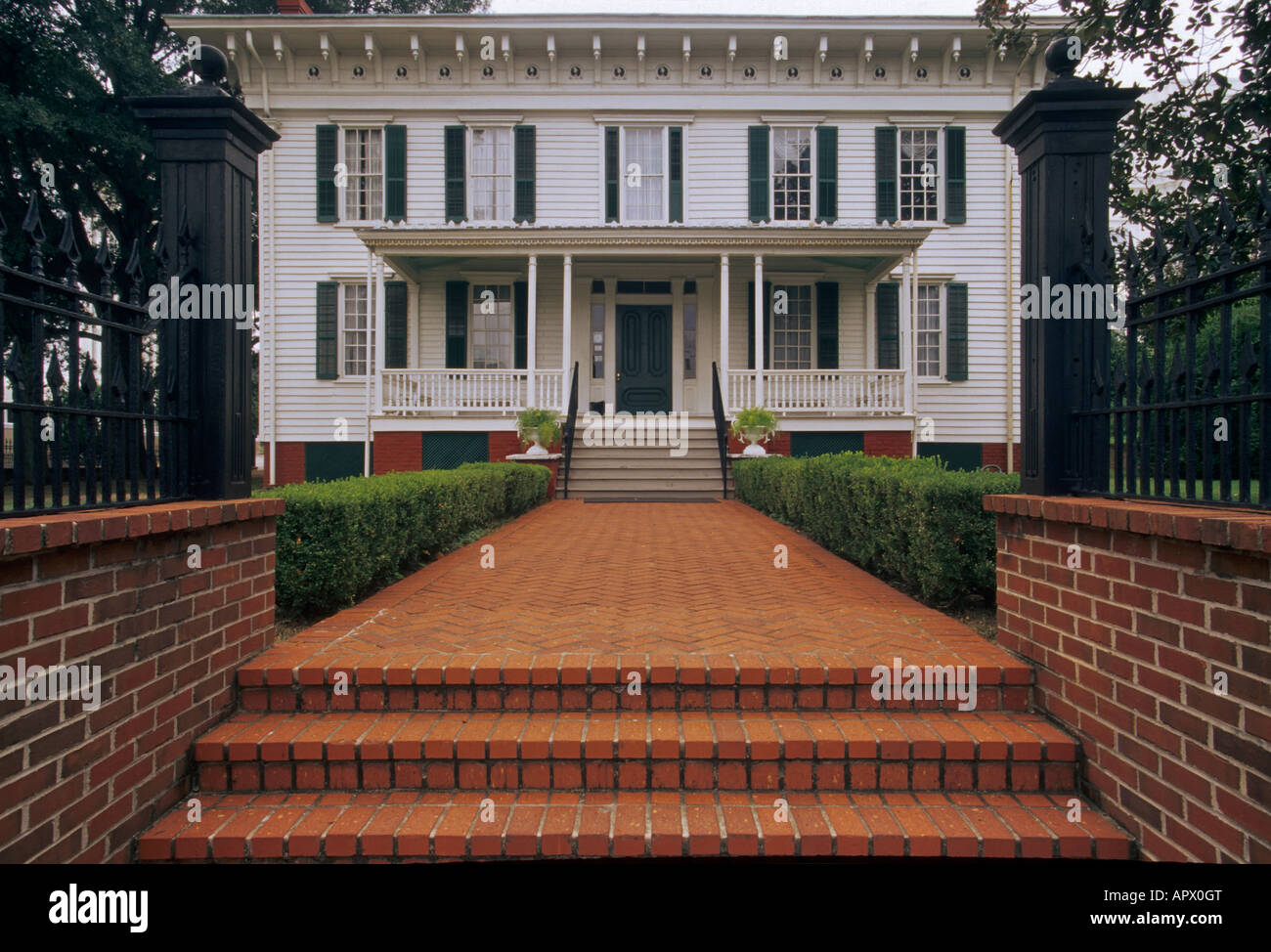 Primera Casa Blanca de la Confederación en Montgomery, Alabama, EE.UU. Foto de stock
