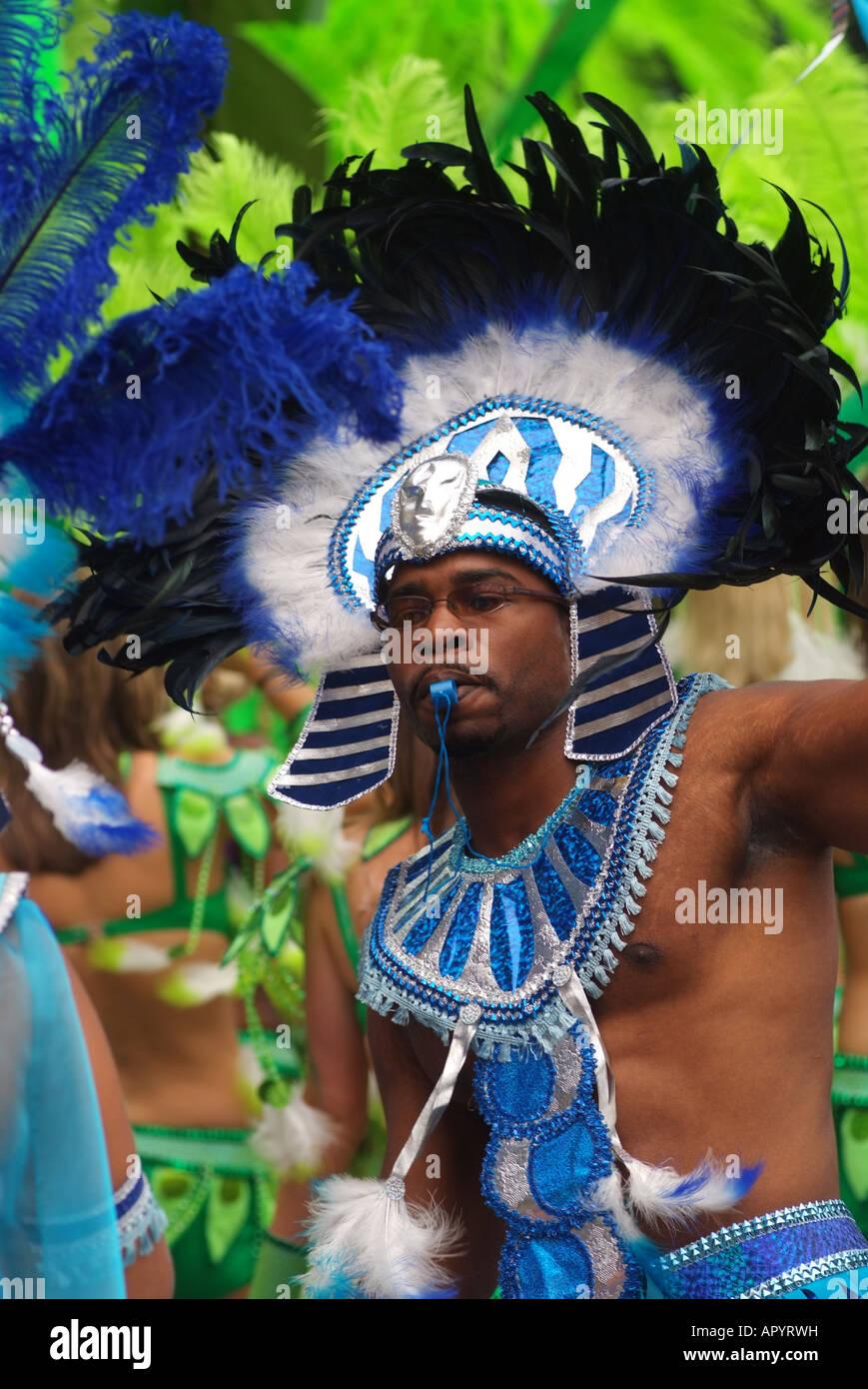 Canadá Quebec Montreal carifest un Desfile del Festival de las naciones del Caribe y las islas Imagen De Stock