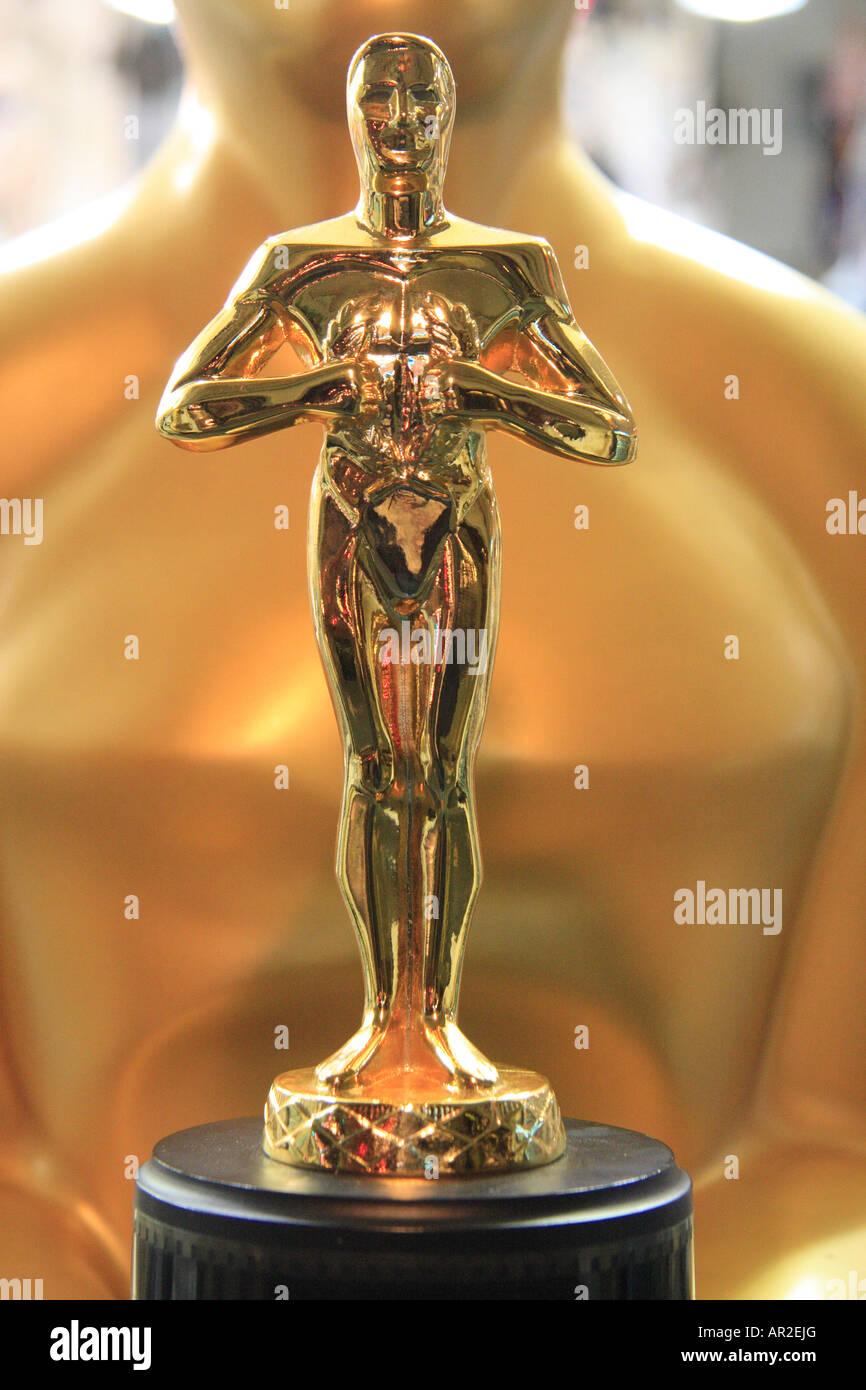 Réplica de la Estatua de Oscar Imagen De Stock