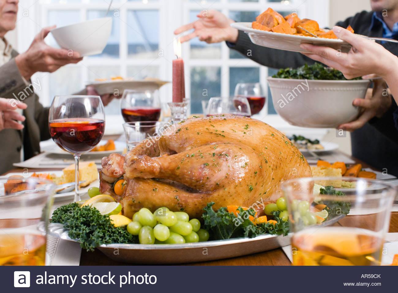 La cena de Acción de Gracias Imagen De Stock
