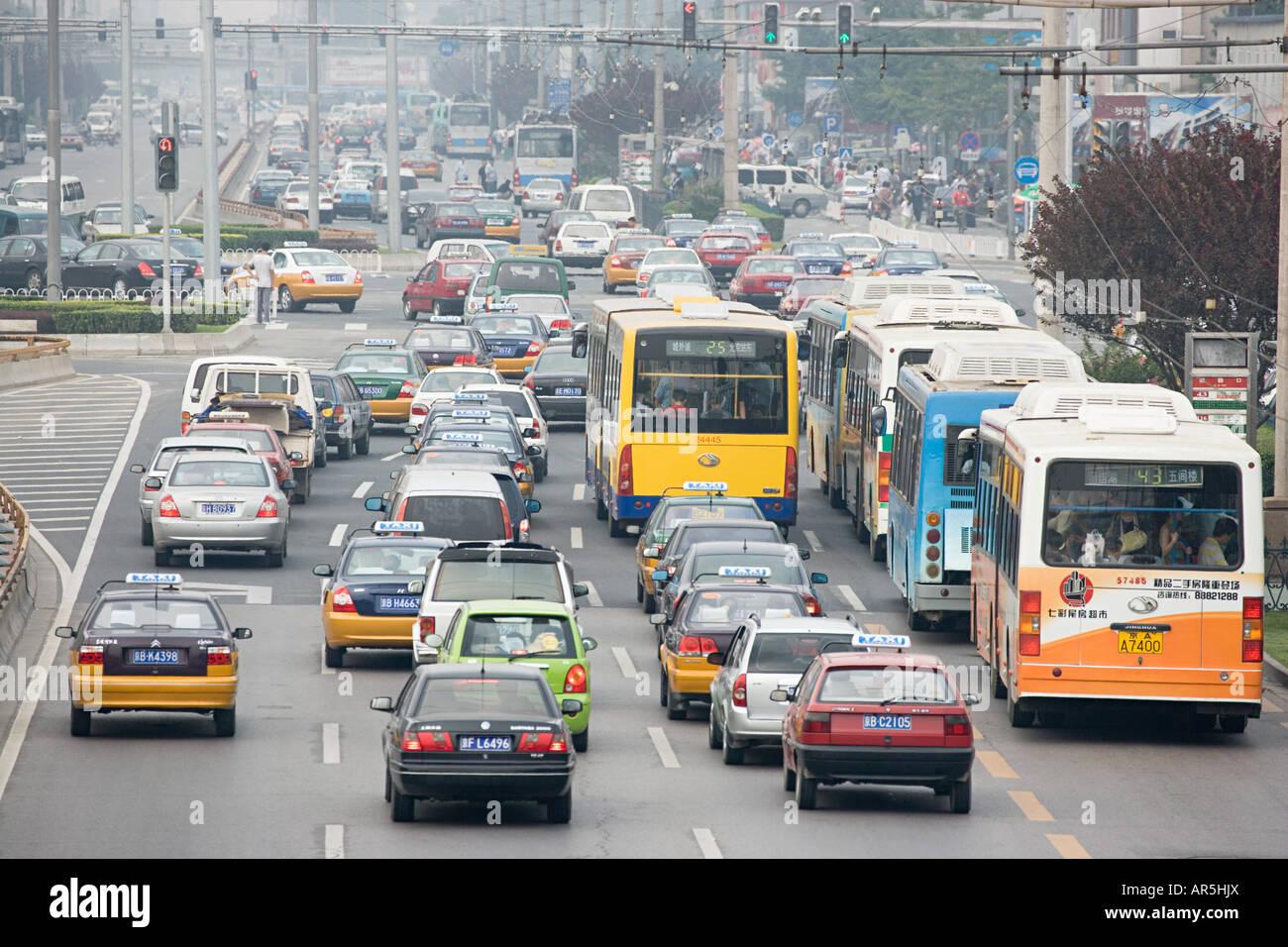 Atasco de tráfico chino Imagen De Stock
