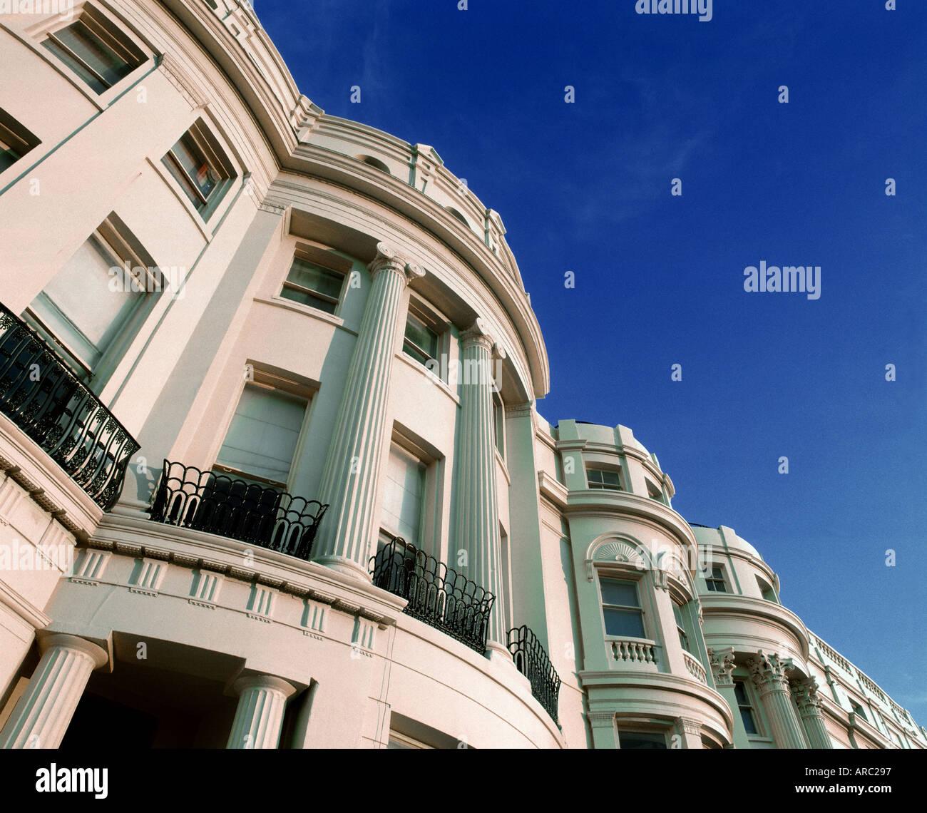 Regency terrazas en Brunswick Square, Hove, East Sussex. Imagen De Stock