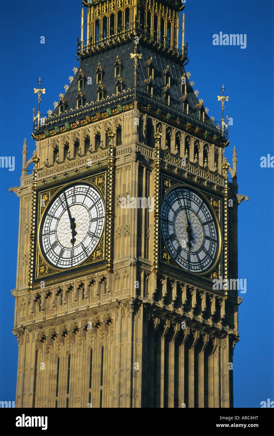 El Big Ben, las Casas del Parlamento, en Westminster, Londres, Inglaterra, Reino Unido, Europa Foto de stock