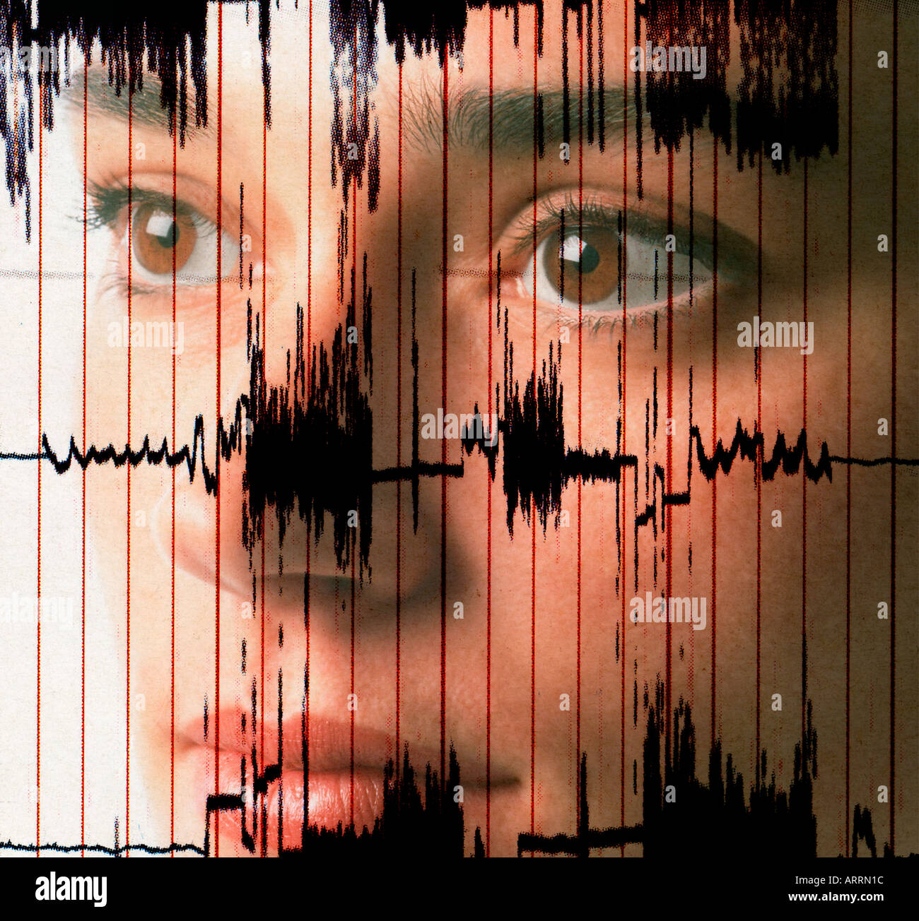 Doctora control EKG Concepto de prueba Imagen De Stock