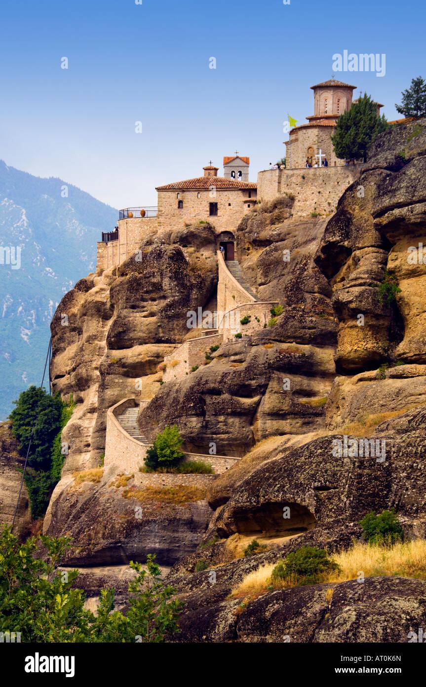 El monasterio de Varlaam Moni Varlaam en Meteora y Kalambaka Grecia Imagen De Stock