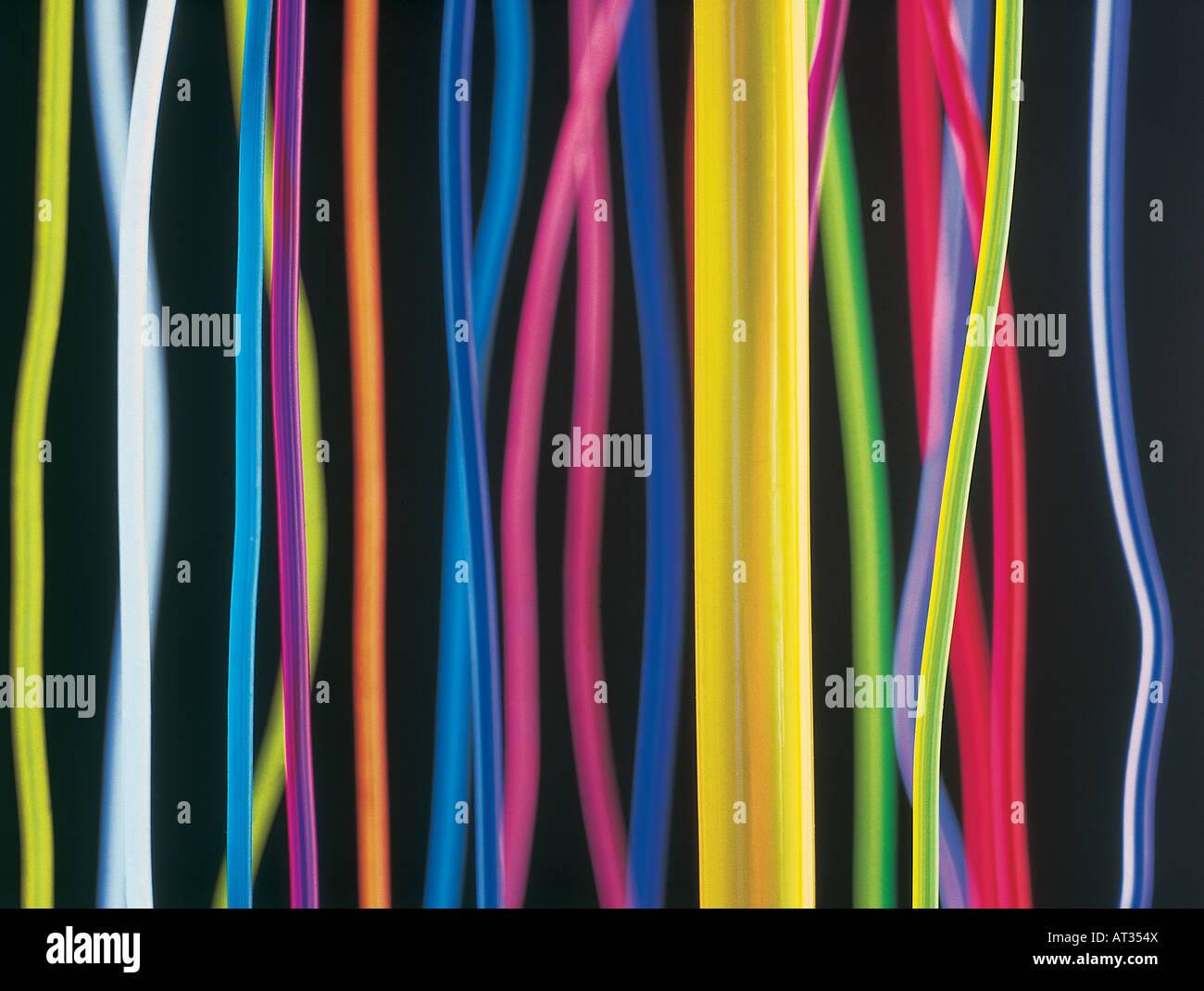 Imagen abstracta de cables de colores Imagen De Stock