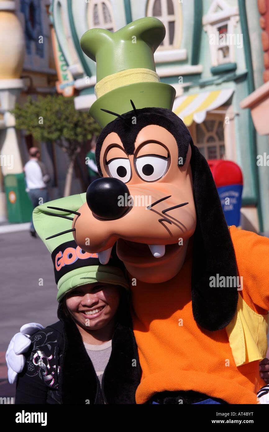 Goofy en Disneyland California Foto de stock