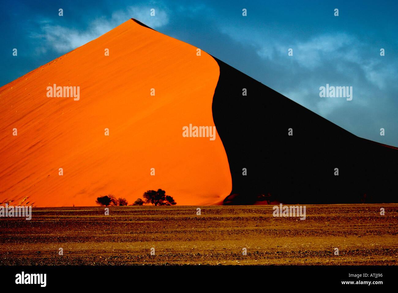 África Namibia Sesriem Sossusvlei duna de arena Imagen De Stock