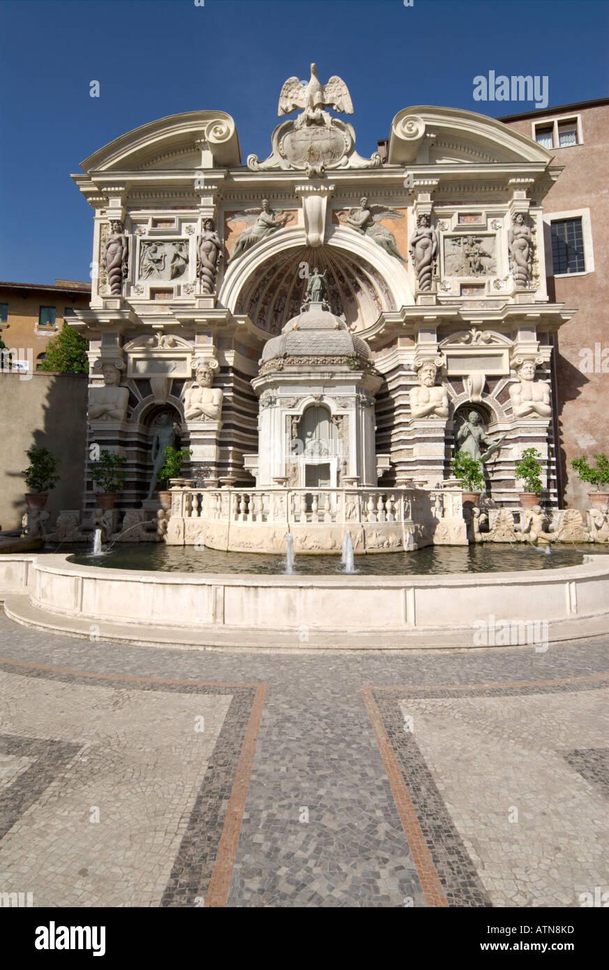 Villa d'Este Órgano Tivoli Italia Trevi Fontana dell Organo Imagen De Stock