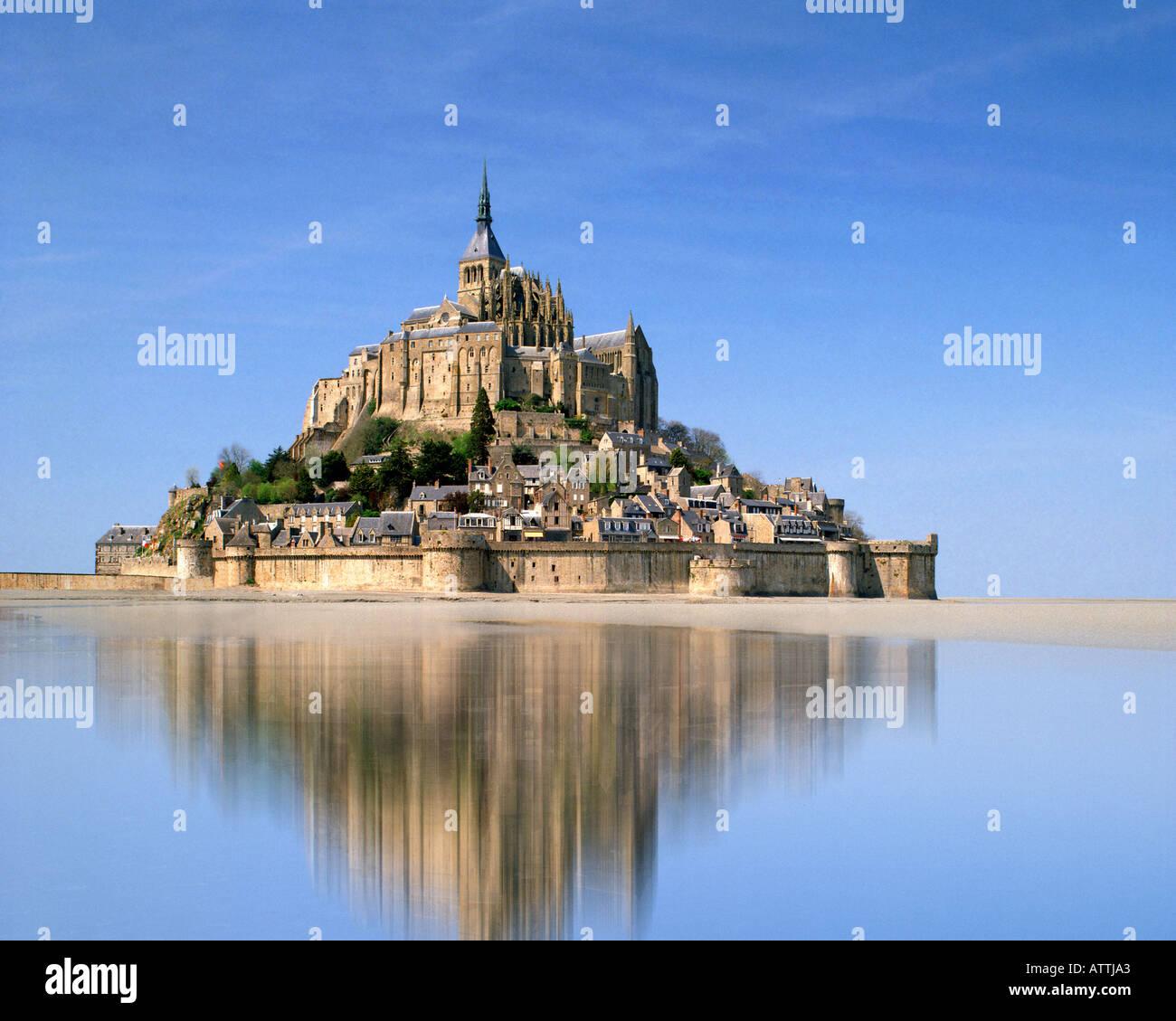 FR - Normandy: Le Mont Saint Michel. Foto de stock