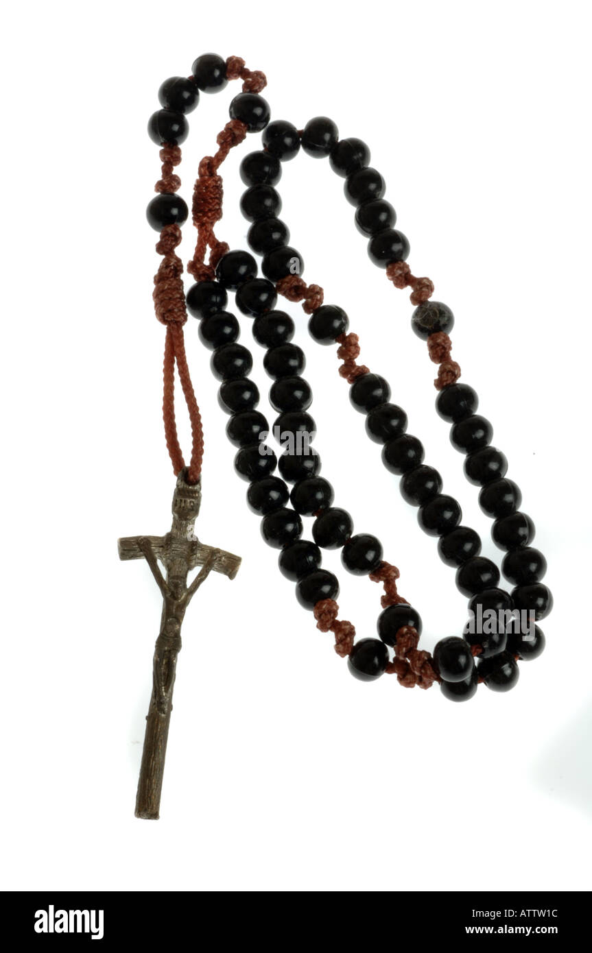 Rosario, Rosario, Rosario mostrando a Jesús en la cruz Imagen De Stock