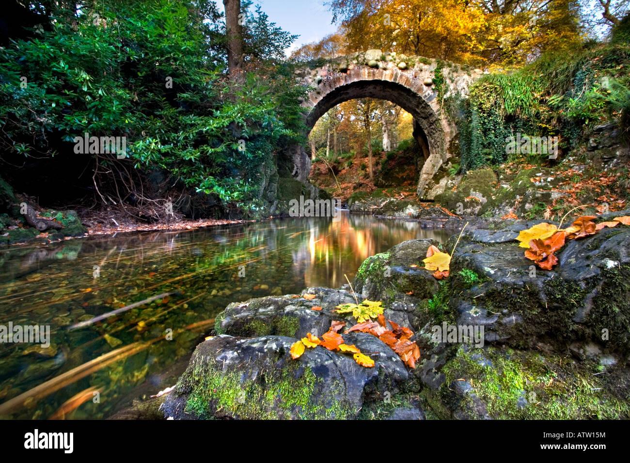 Foley's Bridge, Tollymore Foto de stock
