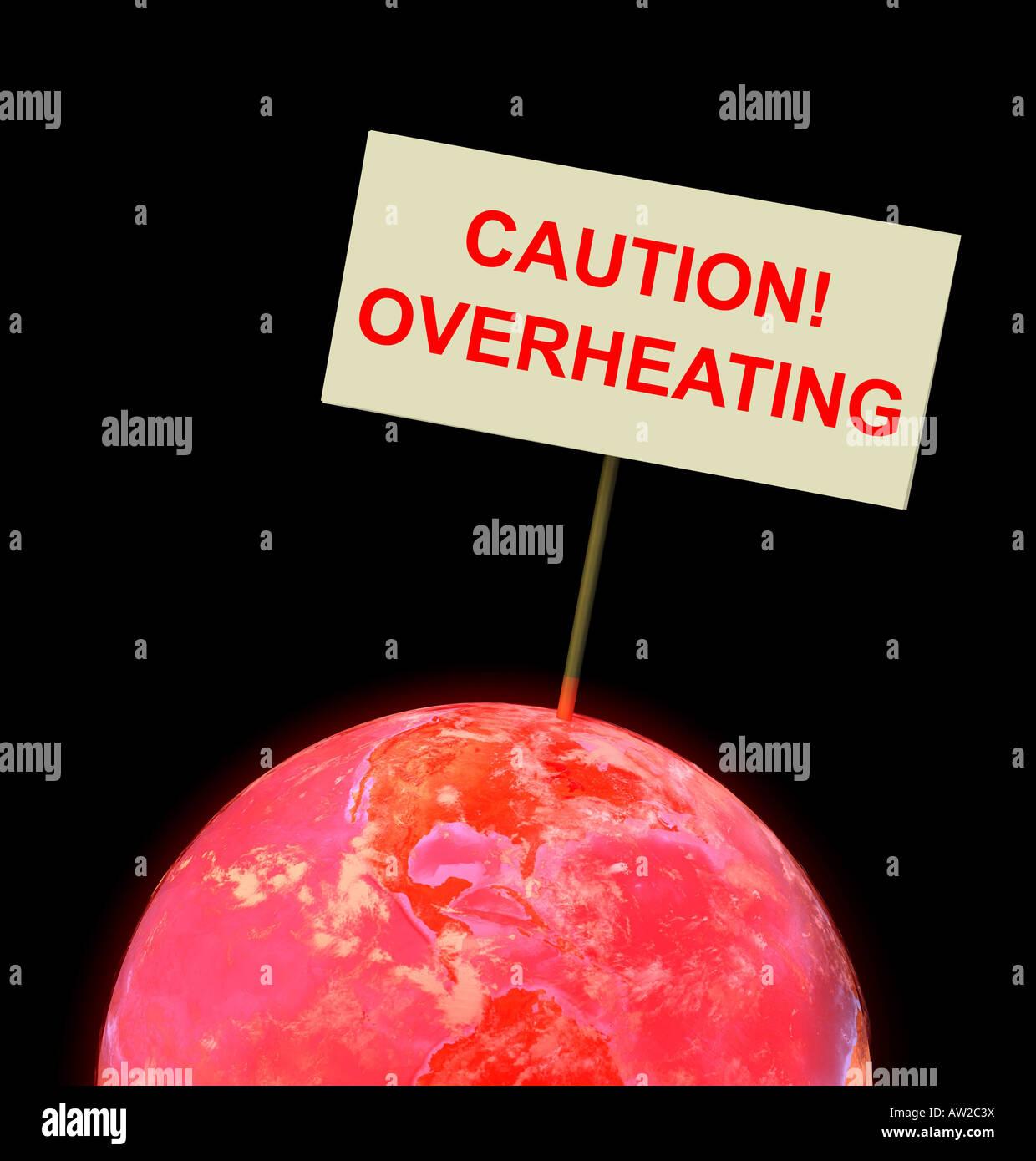 Globo rojo con ambiente recargado Imagen De Stock