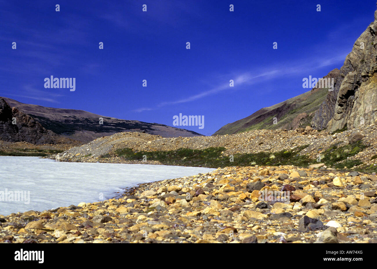 Laguna Toro Toro (lago). Las aguas glaciales Imagen De Stock